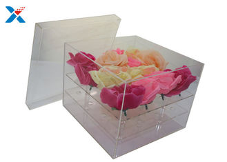 Clear Lid Acrylic Flower Box Luxury Plexiglass Flower Box Eco - Friendly