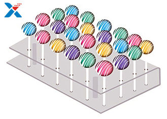 21 Holes Clear Acrylic Cake Pop Stand , Transparent Acrylic Lollipop Stand