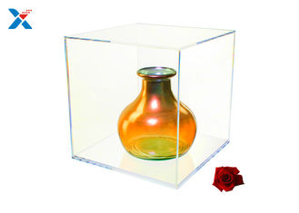 Artwork Display Acrylic Cube Box , Plexiglass Display Box Elegant And Sturdy